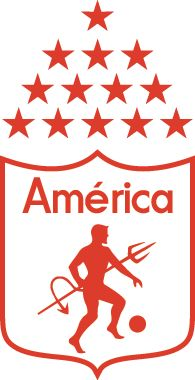 Корпорасьон Депортива Америка Кали Colombia Football, Cali Colombia, Soccer World, Sports Clubs, Football Soccer, Bumper Stickers, American Football, Creative Art, Branding Design