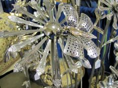 Flowers Made Out Of Silverware | Gardenscape, the Rochester Flower and Garden Show — Cold Climate ...