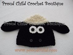 Shaun the Sheep or Timmy Cutest crocheted hat door ProudChildCrochet