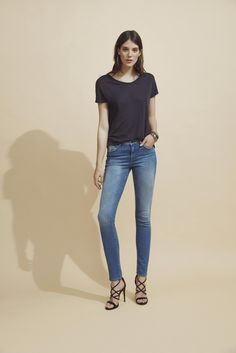 NWT MAVI JEANS Women/'s Dark Shanti Mid-Rise Skinny ALEXA Jeans Navy Size 26