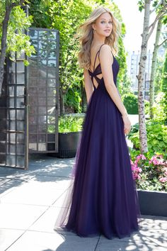 cac506be0cfec Style 5859 Hayley Paige Occasions bridesmaids dress - Plum English net  A-line bridesmaids gown. Jim ...