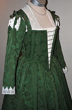 Take this one and spruce it up like the silver/grey one..... Green 16th Century Venetian Renaissance Gown