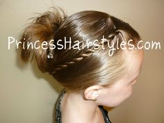 Easy and quick french twist hair style.cute and easy! Cute Hairstyles For Kids, Easy Hairstyles For School, Bun Hairstyles For Long Hair, Little Girl Hairstyles, Twist Hairstyles, Hair Dos, French Hairstyles, Formal Hairstyles, Hairstyle Ideas