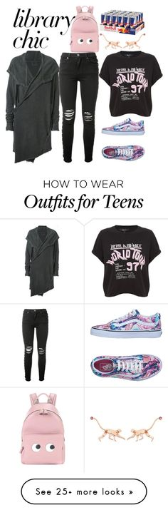 """""""all nighter"""" by esha2232 on Polyvore featuring Lost & Found, AMIRI, Vans, Anya Hindmarch and Marc Alary"""