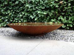 Waterschaal Cortenstaal, Wilt u een natuurlijke vijver of waterpartij in uw tuin, maar heeft u niet veel ruimte of geen zin in omslachtig graafwerk? Kies dan de
