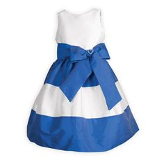 8f43e9431fb Royal Stripes Special Occasion Dress. Daddy Daughter Dance DressesDresses  Kids GirlMiddle School Graduation ...