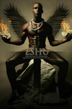 #Eshu is both an orisha and one of the most well-known deities of Yorùbá religion and related New World traditions.He has a wide range of responsibilities: the protector of travelers, deity of roads, particularly crossroads, the deity with the power over fortune and misfortune, and the personification of death, apsychopomp. Èṣù is involved within the Orishasystem of Yorùbá religion as well as in African diasporic faiths like Santería and Candomblédeveloped by the descendants of West…