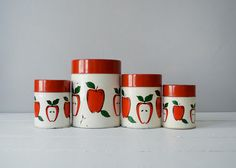 Vintage+Kitchen+Canisters++Mid+Century+Kitchen++by+TimberAndTwine,+$38.00