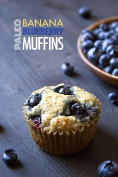 paleo bluberry muffins 1 cup almond flour ⅔ cup tapioca flour ⅓ cup coconut flour 2 tablespoons flaxseed meal 1 teaspoon baking powder 1 teaspoon baking soda pinch of salt 3 mashed ripe bananas ½ cup unsweetened almond milk or other milk of choice ⅓ cup maple syrup or honey ¼ cup melted coconut oil or olive oil 2 eggs 1 cup blueberries, fresh or frozen