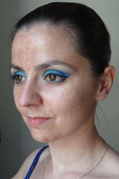 """Dégradé de fards bleus mats des palettes SLEEK """"rio rio"""" et """"ultramattes v1"""" Tuto vidéo sur le blog :)  @sleekmakeup"""