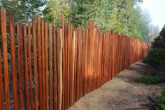 Grape stake fence