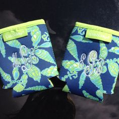 Monogrammed Lilly koozies!