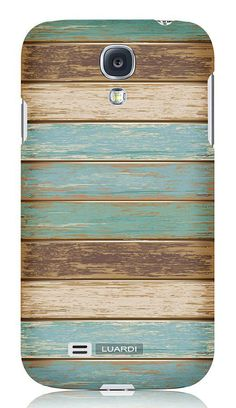 Blue Distressed Wood Snap-On Case for Samsung Galaxy S4