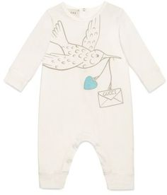 fdcbef4af16c Gucci Dove Graphic Cotton Romper (Baby Girls)