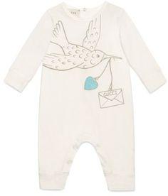 cc638b17912b Gucci Dove Graphic Cotton Romper (Baby Girls)