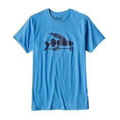 M's Flying Fish Organic Cotton/Poly T-Shirt, Radar Blue (RAD)