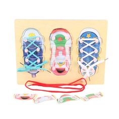 Home Rational Kids Learn Tie Shoe Lace Toy Teaching Toy Wooden Puzzles Board Lacing Shoelaces Children Early Education Toys Funny Game With A Long Standing Reputation