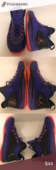 Jordan flight plate Phoenix suns color wave Super clean! Only wore a couple of times! Only problem with them is the last picture you can see a small white spot, very minor Jordan Shoes Sneakers