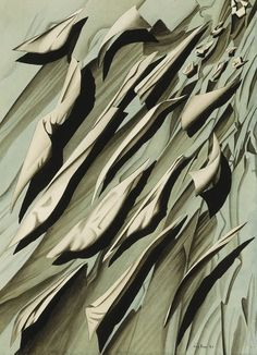 """KAY SAGE, """"ARITHMETIC OF WIND."""" 1947. INK, WASH, WATERCOLOR AND COLLAGE ON PAPER. 7 Forgotten Women Surrealists Who Deserve To Be Remembered"""