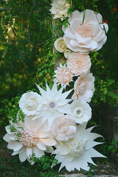 Paper flower themed bridal inspiration