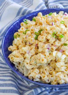 Deviled Egg Pasta Salad Egg Recipes, Side Dish Recipes, Cooking Recipes, Budget Recipes, Summer Pasta Salad, Summer Salads, Simple Pasta Salad, Summer Food, Betty Crocker