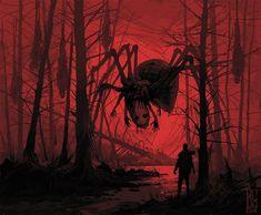 """Visual Necromancy"": The Amazing Art By Boris Groh - creepy - Art Monster Art, Monster Concept Art, Creepy Monster, Dark Fantasy Art, Fantasy Kunst, Arte Horror, Horror Art, Creepy Horror, Gothic Horror"