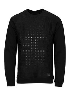 TONE ON TONE SWEATSHIRT, Black