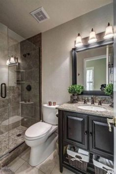 Remodel Your Small Bathroom Fast and InexpensivelySmall bathroom remodel ideas that are too easy to Fresh Small Master Bathroom Remodel Ideas And DesignSmall Bathroom Design Remodel Pictures Diy Bathroom Remodel, Shower Remodel, Bath Remodel, Bathroom Renovations, Budget Bathroom, Basement Bathroom Ideas, Basement Ideas, Restroom Remodel, Downstairs Bathroom