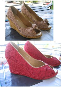 shoe makeover-might try this with wedding shoes to get the perfect color!