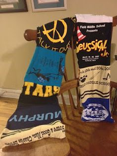 upcycle tee shirts and sweatshirts you have sentimental value for into scarves