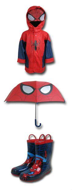 Spiderman Rain Gear Outfit by Mary: Umbrella: https://www.superherostuff.com/spiderman/umbrellas/spiderman-eyes-umbrella.html?itemcd=umbspideyes&utm_source=pinterest&utm_medium=social&utm_campaign=featuredoutfit Boots: https://www.superherostuff.com/spiderman/boots/spiderman-kids-rain-boots.html?itemcd=bootspidcrawlkid&utm_source=pinterest&utm_medium=social&utm_campaign=featuredoutfit