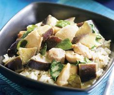 Green Curry with Chicken & Eggplant Recipe