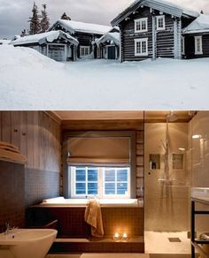 Steel Frame House, Mountain, Houses, Cabin, Mansions, Bathroom, House Styles, Pictures, Home Decor