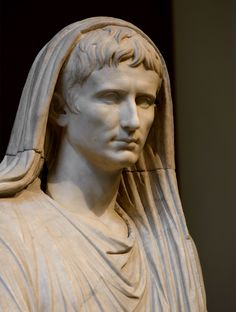 Statue of the emperor August (close-up). 20 A. (Photo by I. Roman Sculpture, Pottery Sculpture, Sculpture Art, Roman History, Art History, Ancient Rome, Ancient Art, Emperor Augustus, Roman Artifacts