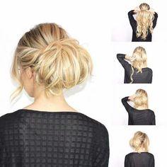 Hair Tutorial up-dos - Hair Tutorials For Medium Hair, Up Dos For Medium Hair, Medium Hair Styles, Curly Hair Styles, Work Hairstyles, Retro Hairstyles, Simple Hairstyles, Hair Up Braid, Beautiful Long Hair