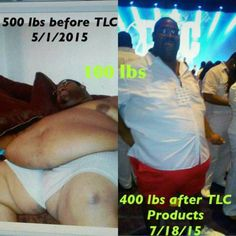 WOW. Doctors told Eugene he would die. TLC said, I don't think so. These products are Changing Lives. Losing 1-3lbs/Day is not only Possible...Its a Reality. I can attest after losing 25lbs in 5 weeks myself. It's Not Too Late for Your Transformation. Resolution is Your Solution Inbox Me!