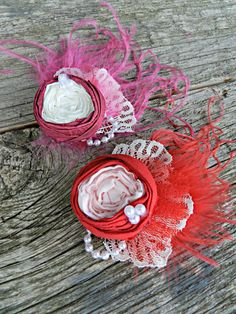 Children's Valentines Hair Clip All my Love Red and by Bella406, $12.00