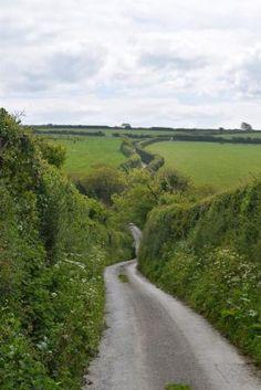 O caminho para Trevance, Cornualha, Inglaterra por Eva0707