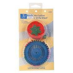 Birch Pin Cushion and 40 Pin Wheel