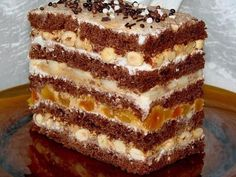Delicious cake made of finished crust. Cakes To Make, How To Make Cake, Food To Make, Poke Cakes, Lava Cakes, Cake Cookies, Sugar Cookies, Homemade Pastries, Custard Cake