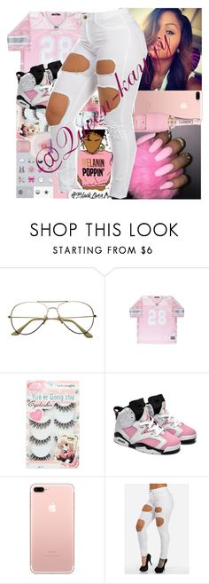 """""""Pink becoming my fav"""" by queen-kayyy ❤ liked on Polyvore featuring Retrò and Johnson's Baby"""