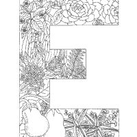 Adult Coloring Pages Letters