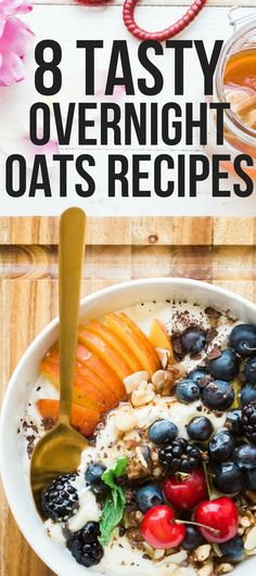 These amazing healthy overnight oats recipes are THE BEST! I'm so glad I found these AWESOME healthy overnight oats recipes for tasty breakfast! Definitely repinning! #overnightoats #breakfastideas