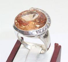 Silberring+925+mit+Orangen-Calcit-Stein+SR142+von+Atelier+Regina++auf+DaWanda.com