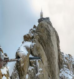 Aiguille du Midi mountain in the Mont Blanc massif in the French Alps by DFiveRed, via Flickr