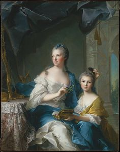 Madame Marsollier and Her Daughter  Jean Marc Nattier  (French, 1685–1766)