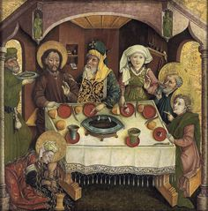 Christ in the house of Simon,1470-80 Germany