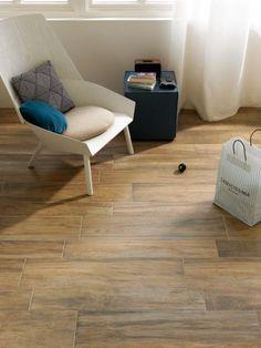 Płytki gresowe drewnopodobne produkcji NovaBell z kolekcji Eco Dream w kolorze Castagno.   Ciepło drewna, praktyczność płytek. Płytki występują w 3 rozmiarach: 15x90; 15x60; 22,5x90 Tile Design, Decoration, Countertops, Tiles, Sweet Home, Indoor, Flooring, Chair, Wood