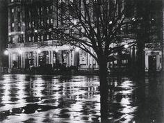 Alfred Stieglitz, Reflections, Night, New York, 1896