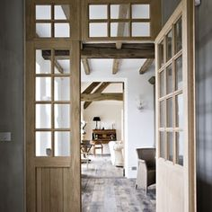 Belgian styled interior chalky walls and neutral palette - lovely!